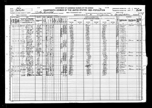 Edna Carol Young - 1920 U.S. Census - A Young Family