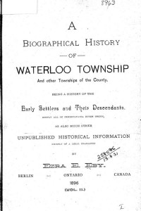 Waterloo Township History